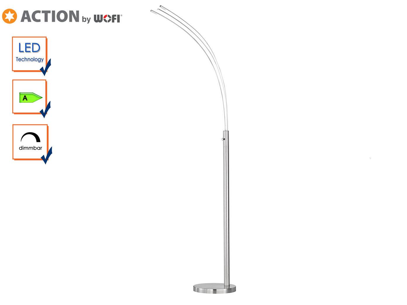 Das Bild Wird Geladen Wofi Design LED Stehlampe REES Dimmbar Wohnzimmerlampe Stehleuchte