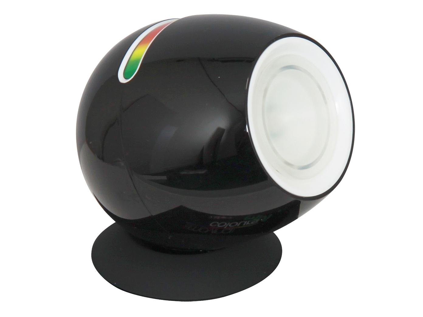 schwarz LED Leuchte//Stimmungsleuchte mit Farbwechsler /& Touchfunktion