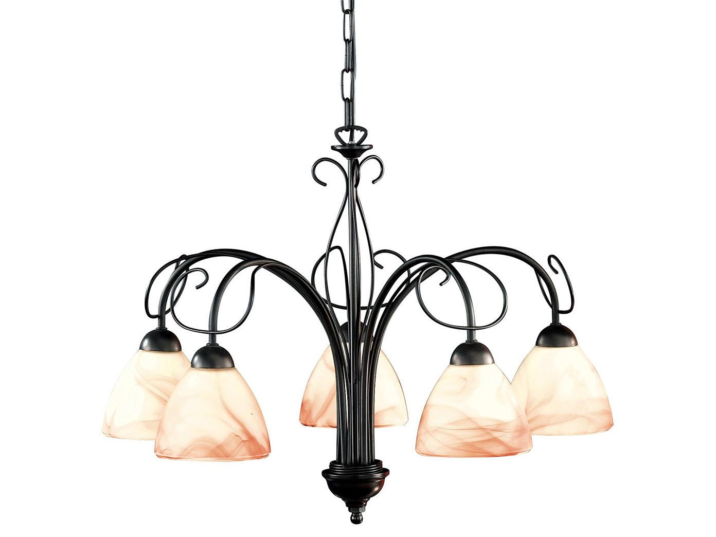 Haengeleuchter-Rostfarbig-antik-Glas-alabaster-Honsel-Leuchten-VENEZIA