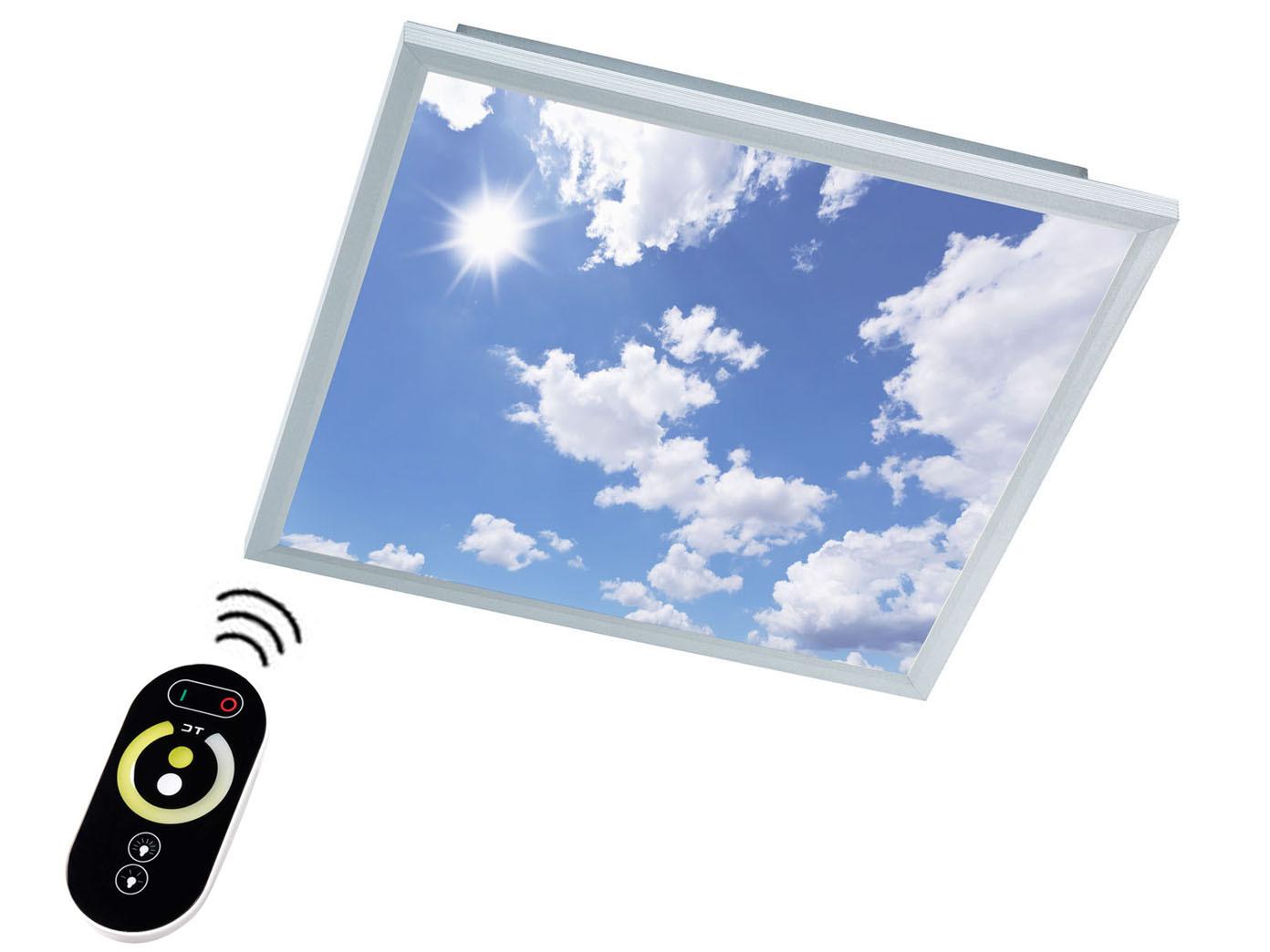 Das Bild Wird Geladen LED Paneel Deckenleuchte 60x60 Cm Dimmbar Mit Fernbedienung