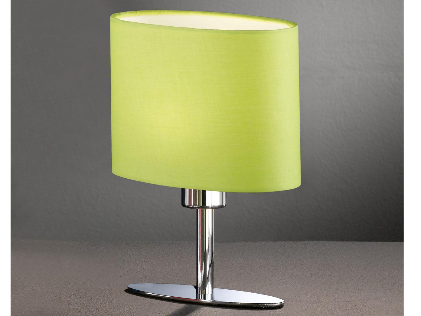 Das Bild Wird Geladen Tischleuchte YIMMI Schirm Gruen Oval Wohnzimmerlampe Nachttisch Honsel