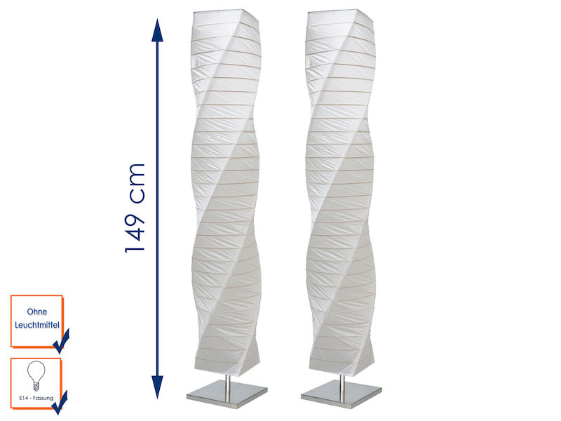 2er Stehleuchte Twister Papier - setpoint.de