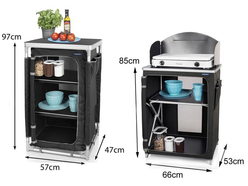 Outdoorküche Zubehör Günstig : Luxuriöse outdoor küche campingschrank faltbar setpoint.de