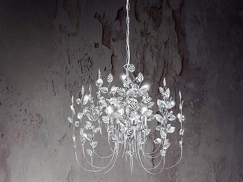 Led Leuchtmittel Für Kronleuchter ~ 4 flammiger led kronleuchter chromfarben mit acrylblättern setpoint.de