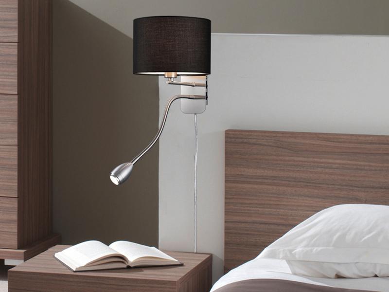 trio leuchten wandleuchte leseleuchte. Black Bedroom Furniture Sets. Home Design Ideas
