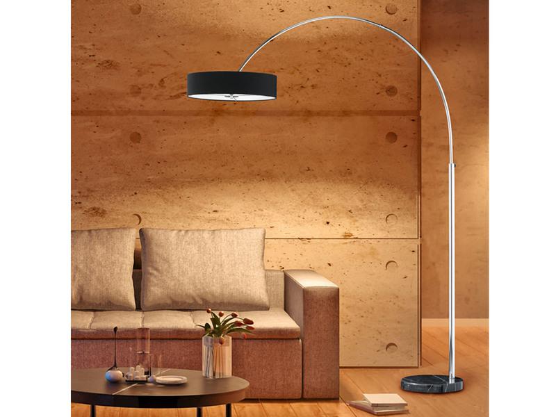 trio leuchten stehlampen bogenlampen. Black Bedroom Furniture Sets. Home Design Ideas