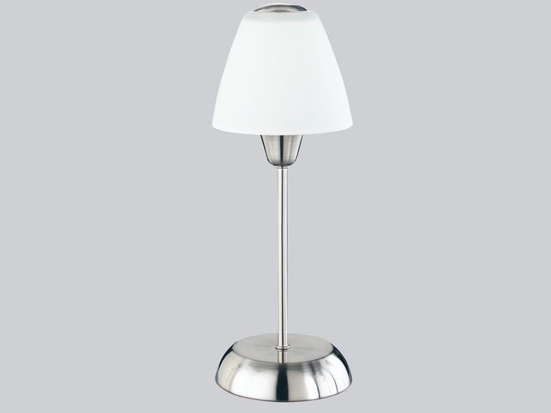trio leuchten tischlampe nickel. Black Bedroom Furniture Sets. Home Design Ideas