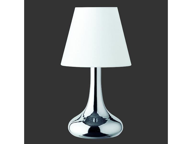 trio leuchten tischlampe chrom wei. Black Bedroom Furniture Sets. Home Design Ideas