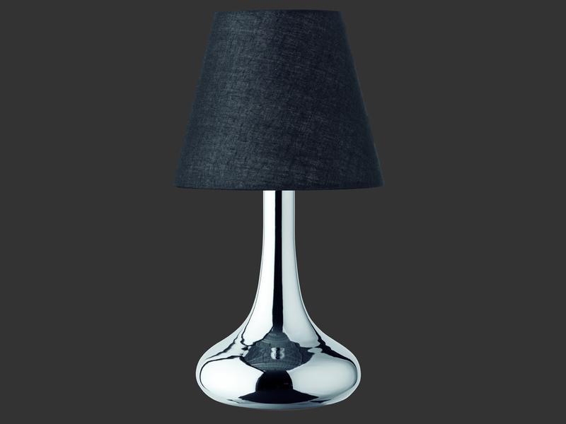 trio leuchten tischlampe schwarz chrom. Black Bedroom Furniture Sets. Home Design Ideas