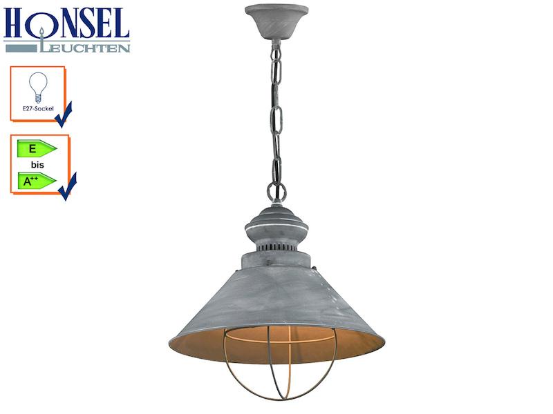 Pendelleuchte basket 68731 metall beton farbig honsel for Deckenleuchten farbig