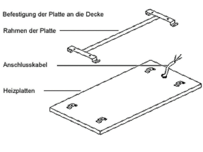 Infrarot Glasheizung Vitalheizung HVH600G - setpoint.de