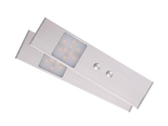 set 2 stk led m beleinbauleuchten mit bewegungssensor. Black Bedroom Furniture Sets. Home Design Ideas