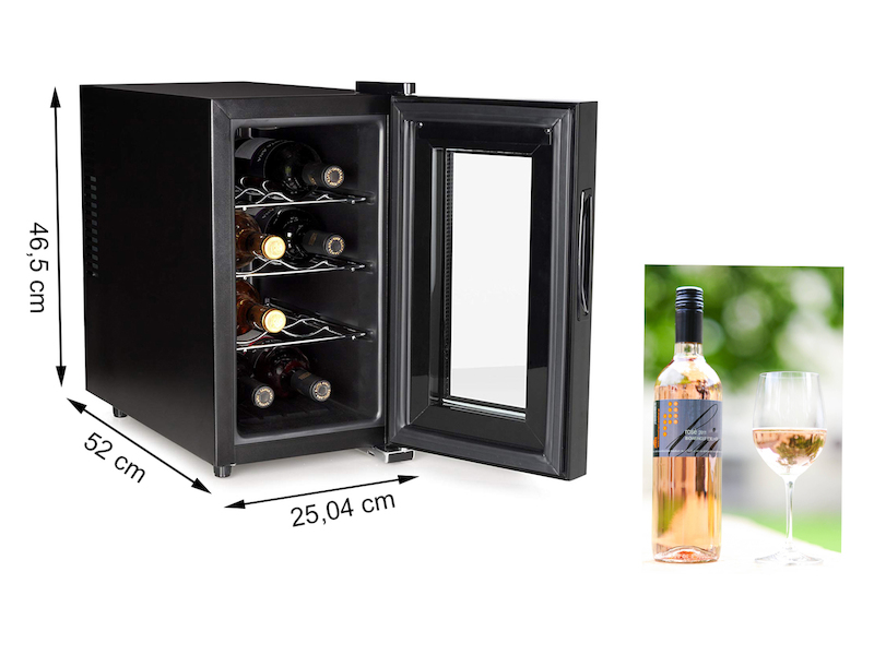 tristar weink hlschrank f r 8 flaschen 7 18 c 21 liter. Black Bedroom Furniture Sets. Home Design Ideas