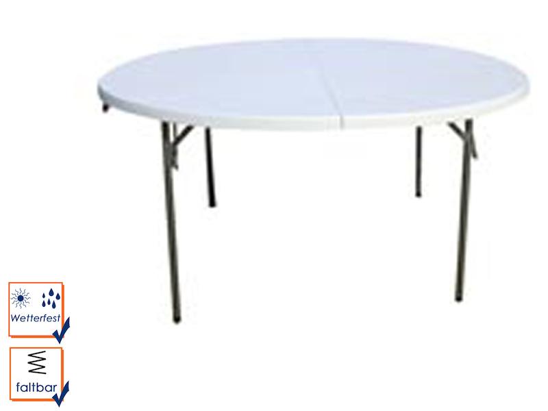 Toolland klapptisch rund f r bis zu 8 personen - Gartentisch 8 personen ...