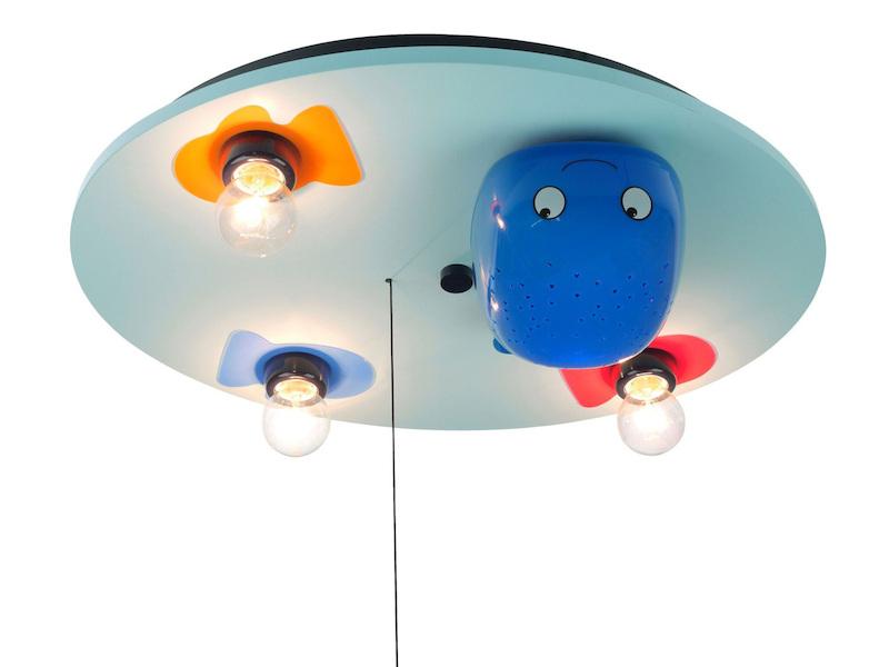 Kinderzimmer Deckenleuchte WAL, Mit Schlummerlichtfunktion Und  LED Farbwechsler