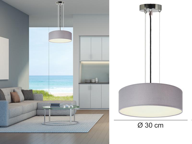 ceiling dream h ngeleuchte grau 30cm. Black Bedroom Furniture Sets. Home Design Ideas
