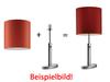 schirm 30cm chintz rot fischer leuchten. Black Bedroom Furniture Sets. Home Design Ideas