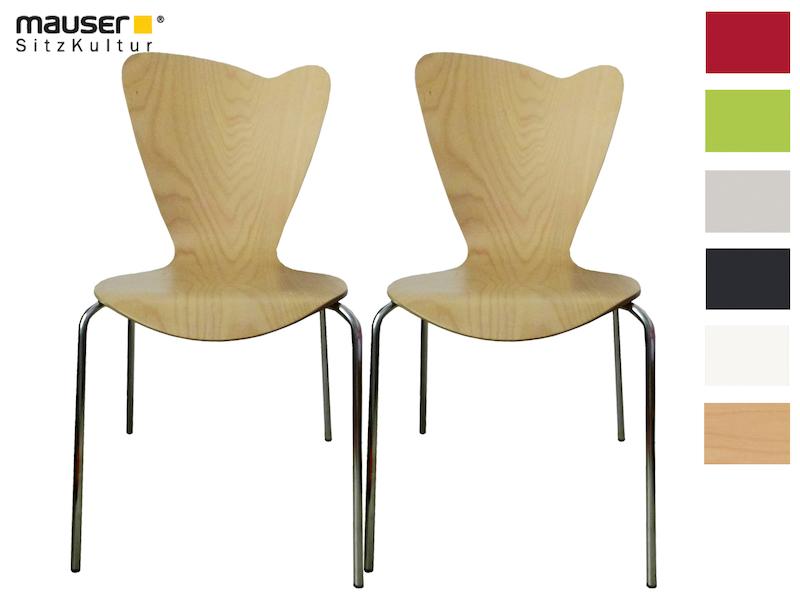 Mauser Sitzkultur 2er-Set Stühle Heart buche - setpoint.de