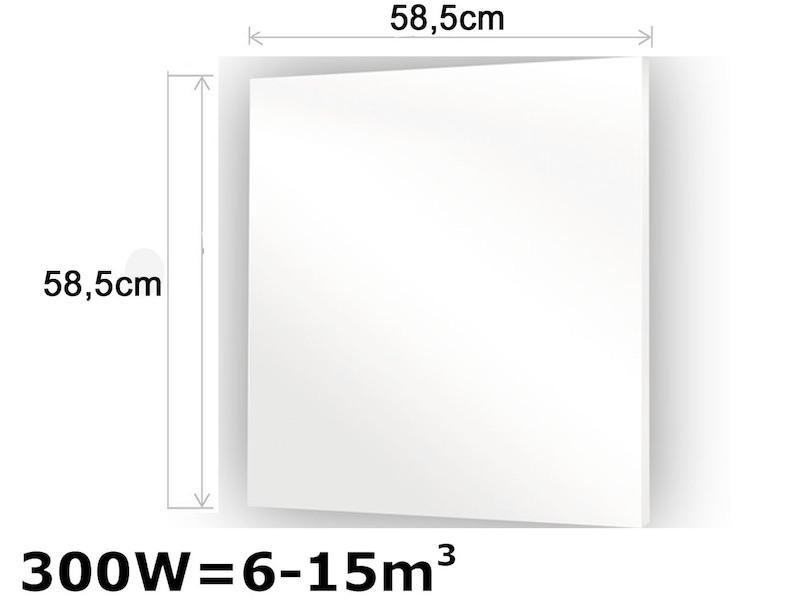 Infrarot Glasheizpaneele HVH300GS weiß Vitalheizung - setpoint.de