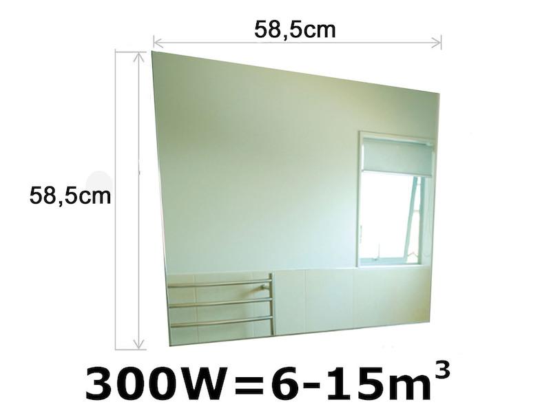 Infrarot Glasheizpaneele HVH300GS Spiegel Vitalheizung - setpoint.de