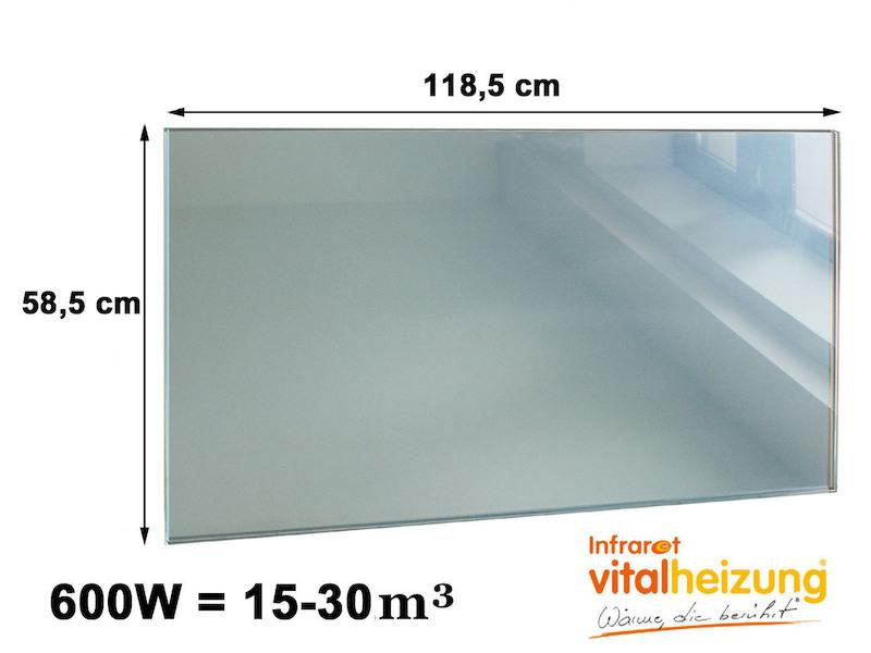Infrarot Glasheizpaneele HVH600GS Spiegel Vitalheizung - setpoint.de