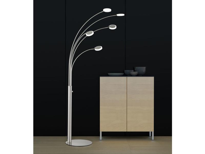 5 Flammige LED Stehlampe SHINE Mit Dimmer Modernes Design Samsung