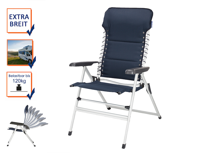 campart travel faltbarer campingstuhl verstellbar. Black Bedroom Furniture Sets. Home Design Ideas