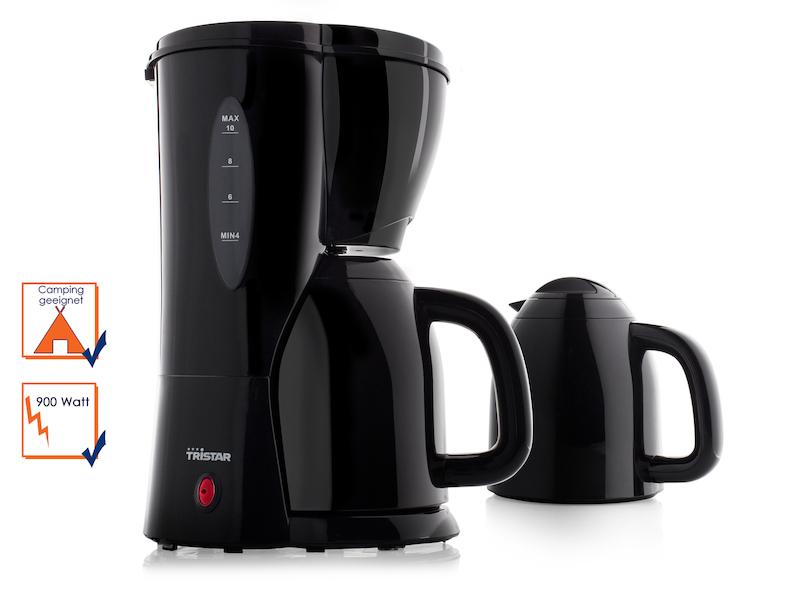 tristar schwarze kaffeemaschine mit 2 thermoskannen 900. Black Bedroom Furniture Sets. Home Design Ideas