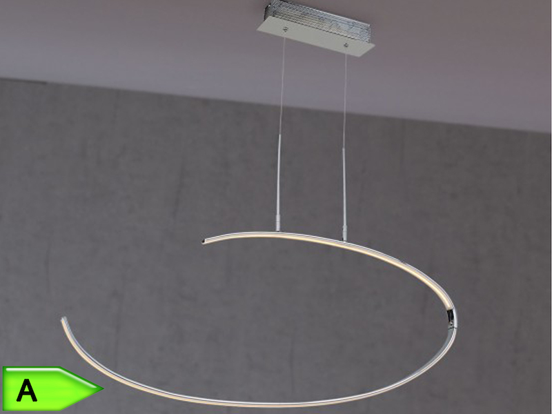 Moderne led pendelleuchte lex chrom 80 cm wofi for Moderne pendelleuchte led