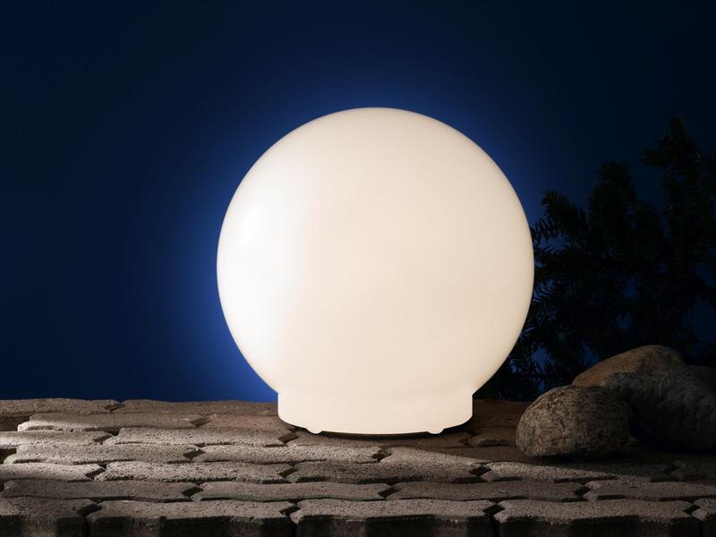Aussenleuchte Kugelform O 30cm Ip67 Mit Erdspiess Wofi Leuchten Ebay