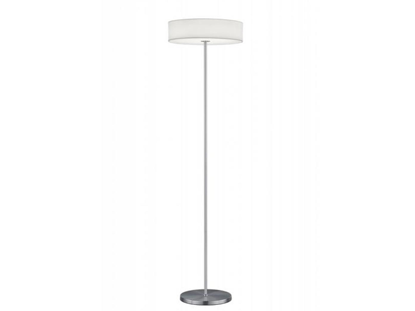 Trio LED Design Stehlampe LUGANO dimmbar, Stoffschirm weiß ...