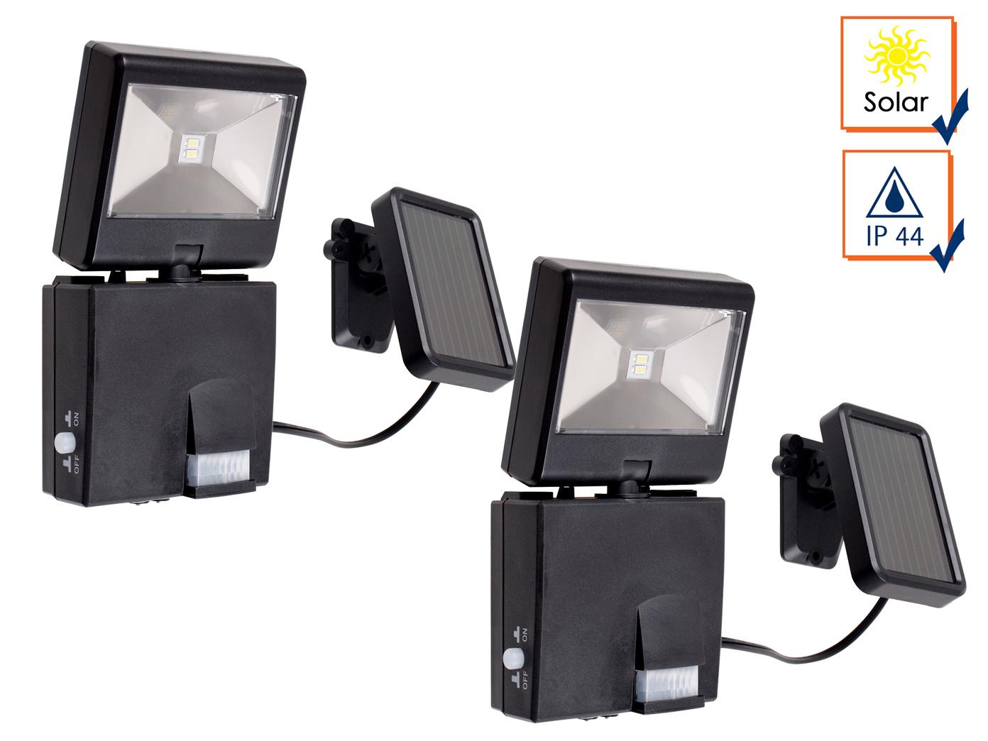 2er set led wegeleuchte mit solar panel bewegungsmelder wandleuchte au enlampe ebay. Black Bedroom Furniture Sets. Home Design Ideas