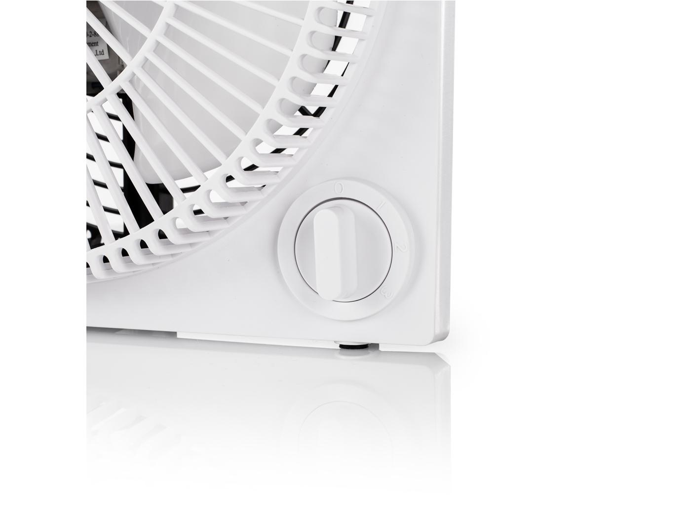 ventilator box 3 stufen 34 watt eckig wei leise. Black Bedroom Furniture Sets. Home Design Ideas