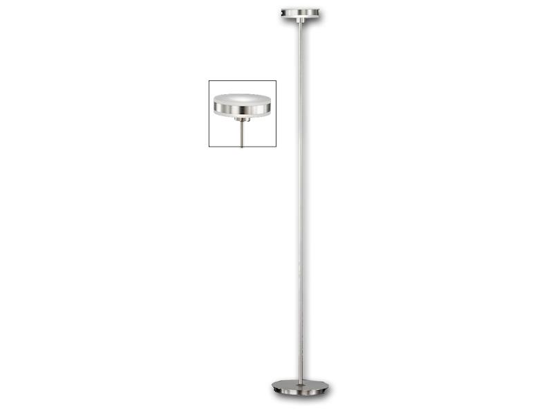 Dimmbare led stehlampe nickel matt höhe 143 cm standlampe