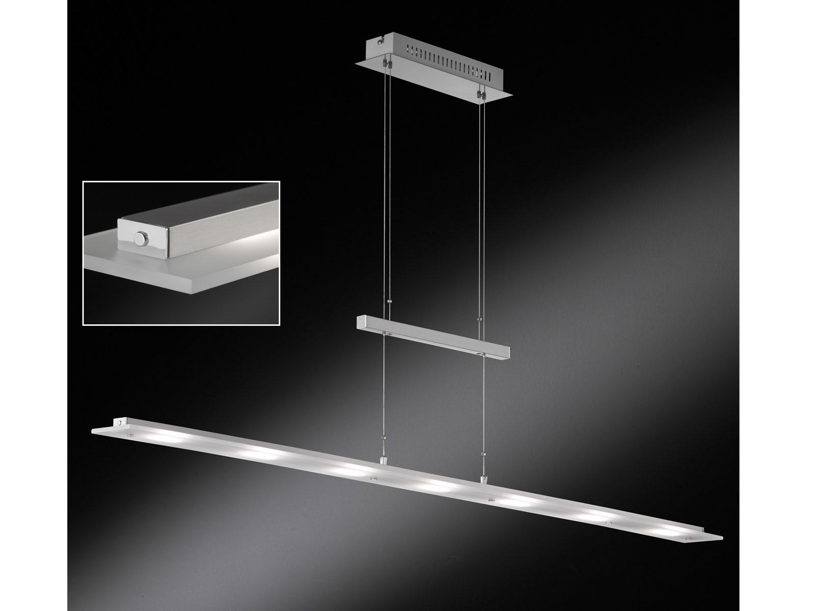 Pendelleuchte LED dimmbar & höhenverstellbar Länge 135cm Pendel Hängeleuchten