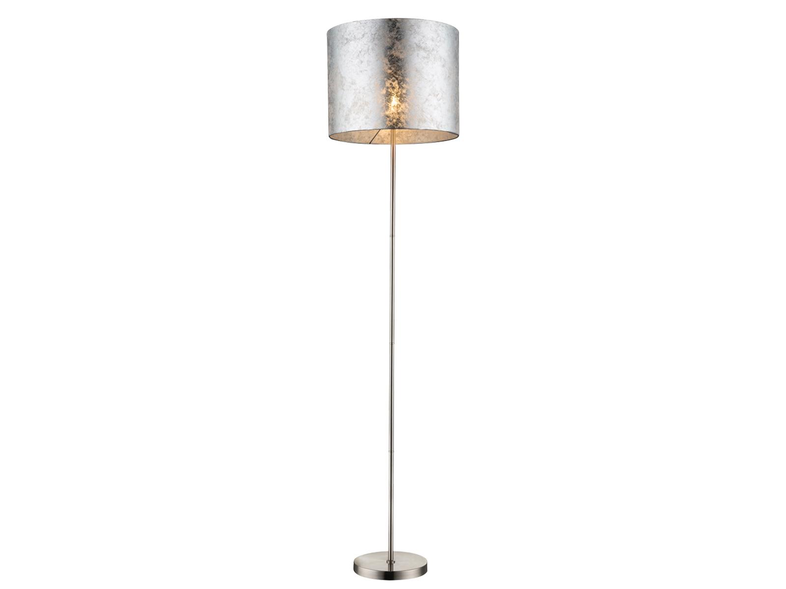 Wunderschön Stehleuchte Mit Stoffschirm Ideen Von Das Bild Wird Geladen Design-led-stehlampe-amy-stoffschirm -silber-40cm-wohnzimmerlampe-