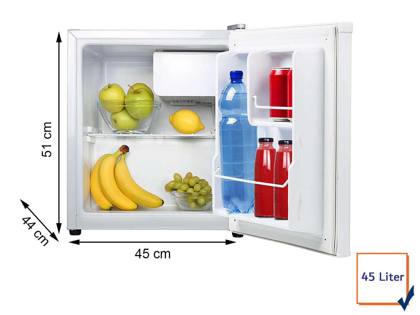 Kleiner Kühlschrank Ohne Gefrierfach : Kleiner mini kühlschrank freistehend l mit l gefrierfach