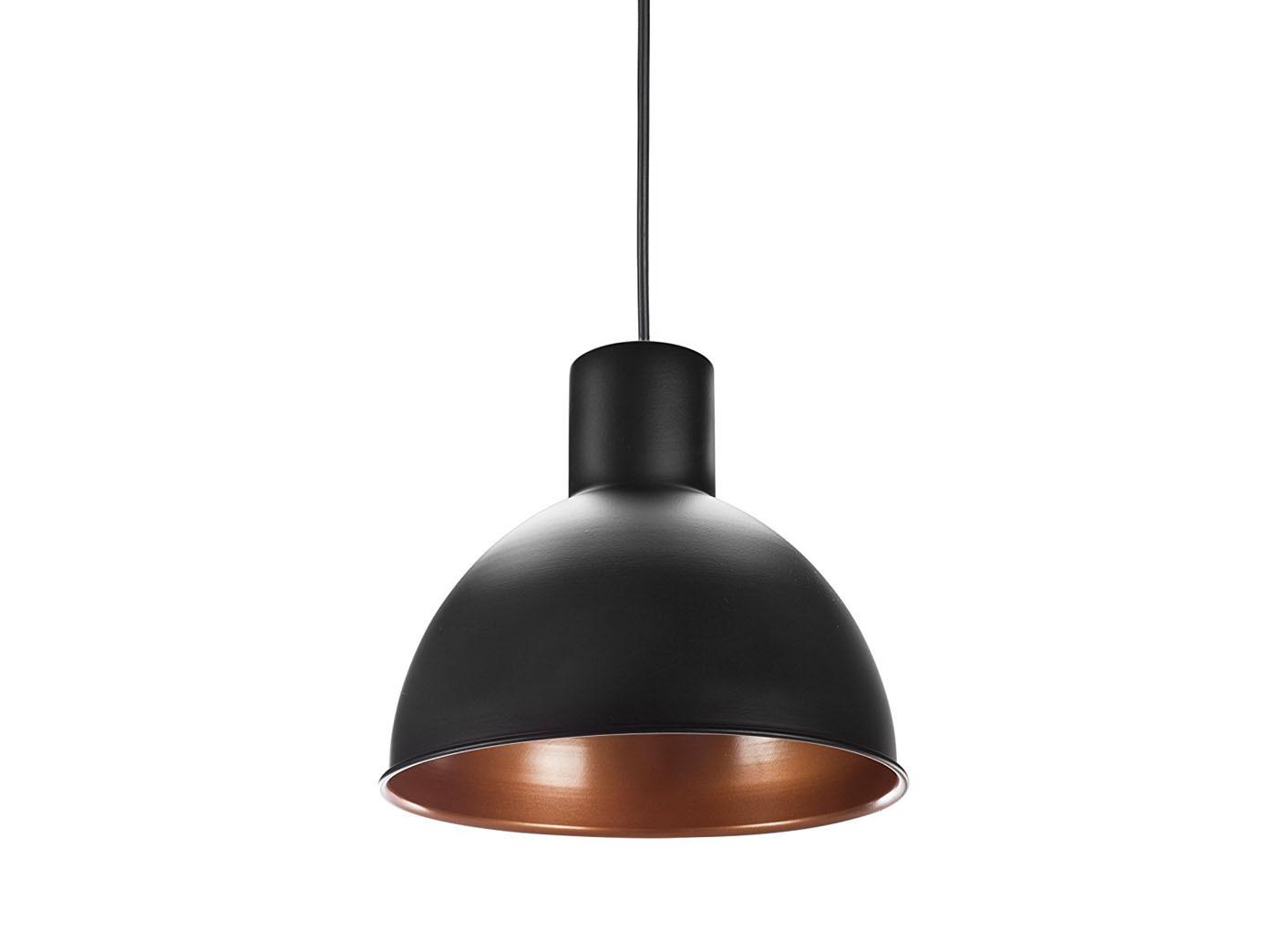 h ngelampe industrielampe 30cm schwarz bronze mit led. Black Bedroom Furniture Sets. Home Design Ideas