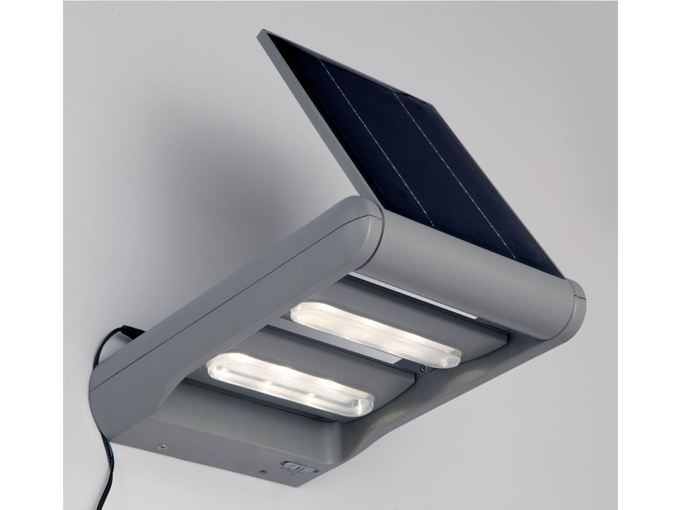 2 fl design led solarleuchte dimmbar drehbar ip44 wandlampen au enleuchten ebay. Black Bedroom Furniture Sets. Home Design Ideas