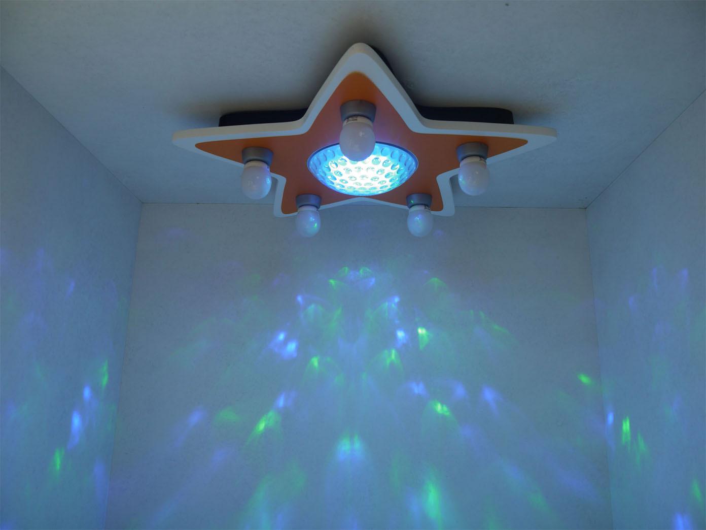 Led Kinder Deckenleuchte Stern Lampe Kinderzimmer 4 Farben Zaubern