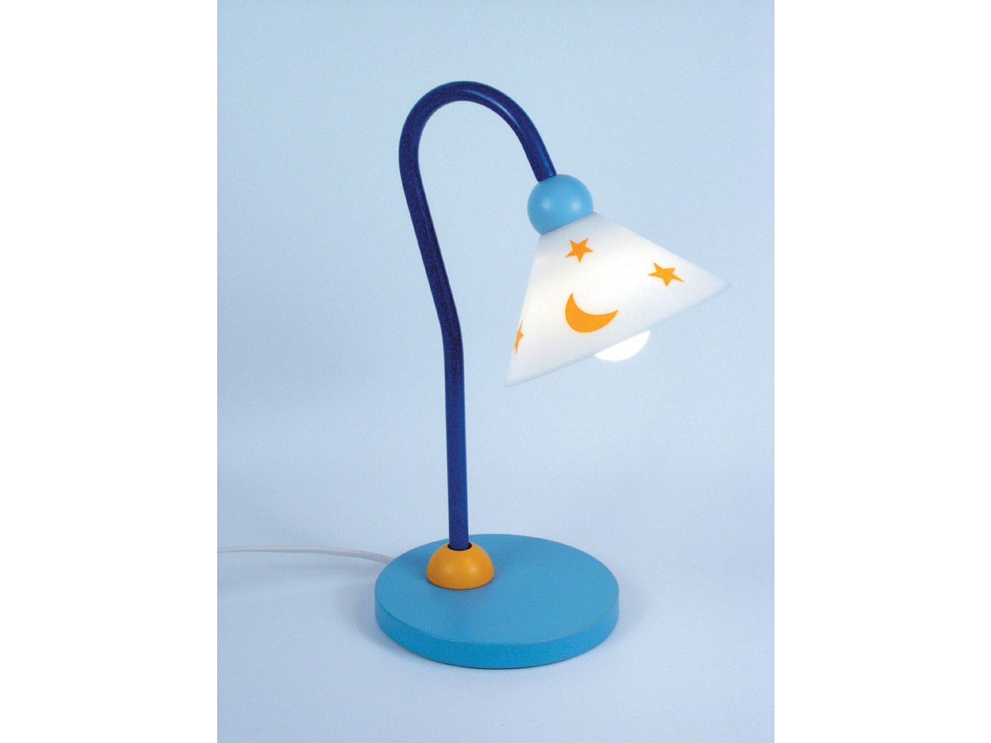 led kinder leseleuchte led schreibtischlampe flexibel prinz kinderlampe hellblau eur 54 99. Black Bedroom Furniture Sets. Home Design Ideas