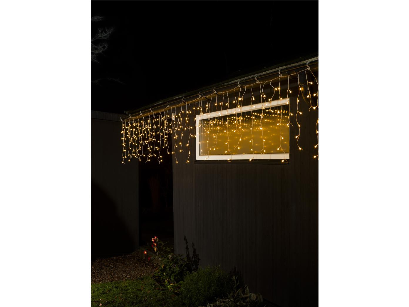 led lichtervorhang lichterkette mit funksteckdose fernbedienung weihnachten ebay. Black Bedroom Furniture Sets. Home Design Ideas