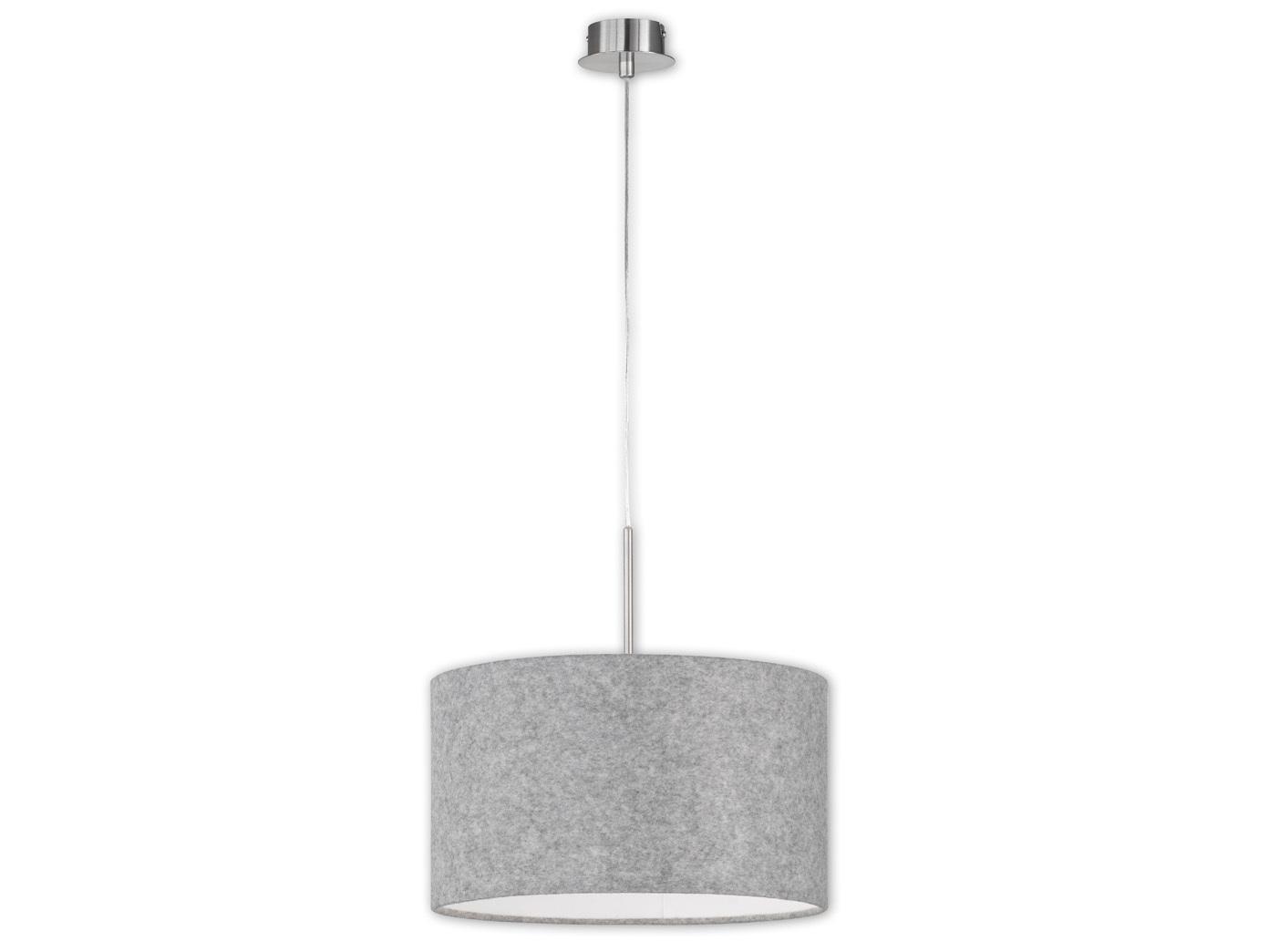 Moderne Pendelleuchte LED Schirm Filz grau Ø 40cm blendfrei Pendel ...