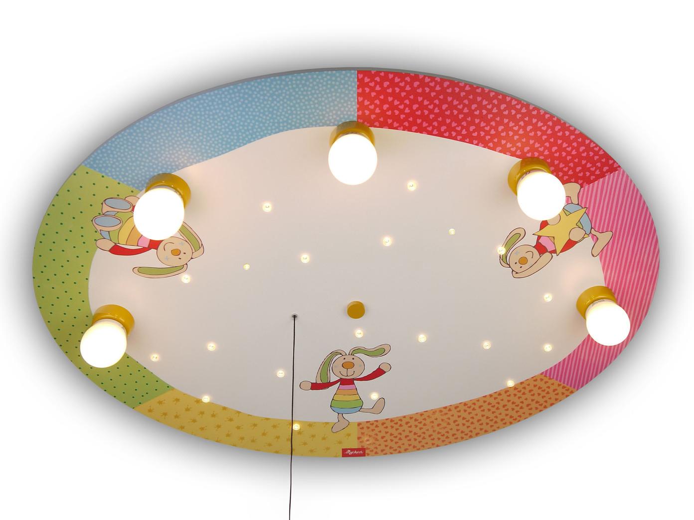 LED Kinderzimmerlampe Decke Rainbow Rabbit Schlummerlicht Amazon ...