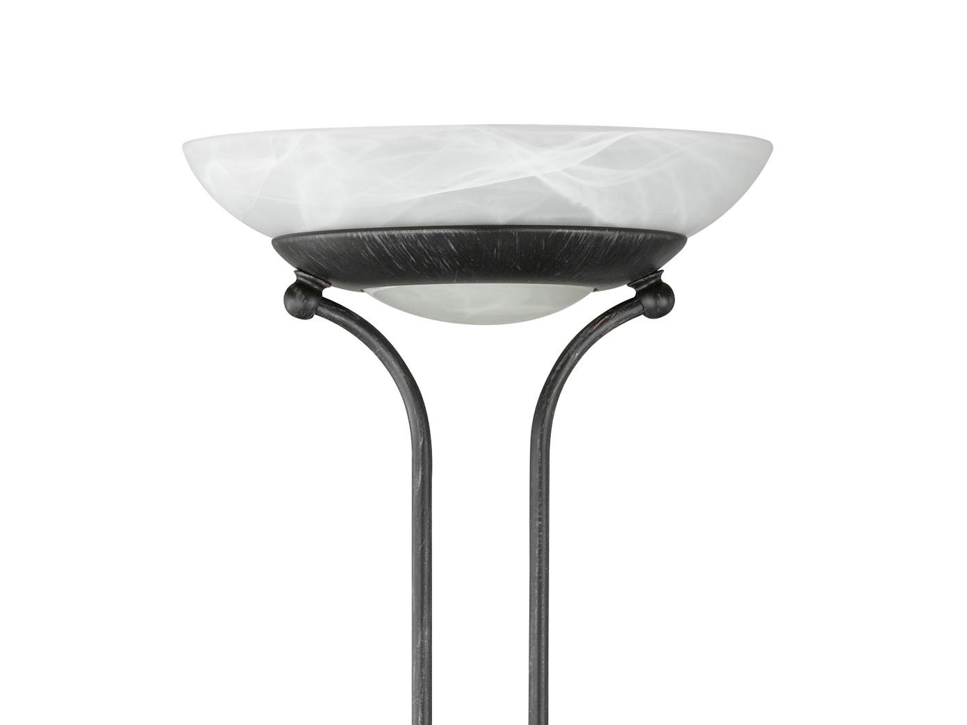 design led deckenfluter dimmbar mit leselampe rostfarbig. Black Bedroom Furniture Sets. Home Design Ideas