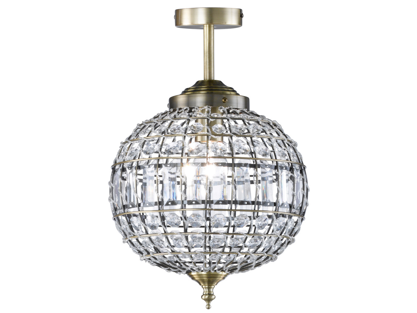 Design Deckenleuchte Altmessing Acrylglas O 30cm Deckenbeleuchtung