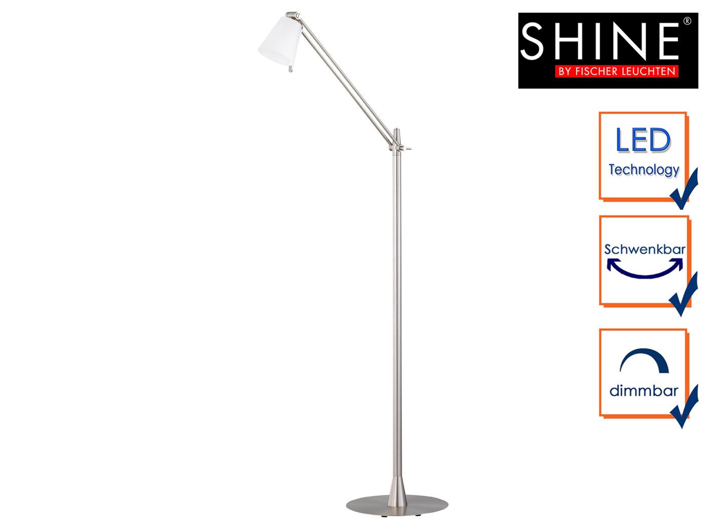led stehlampe mit schirm schwenkbar dimmbar h 140cm b rolampen leselampe design ebay. Black Bedroom Furniture Sets. Home Design Ideas