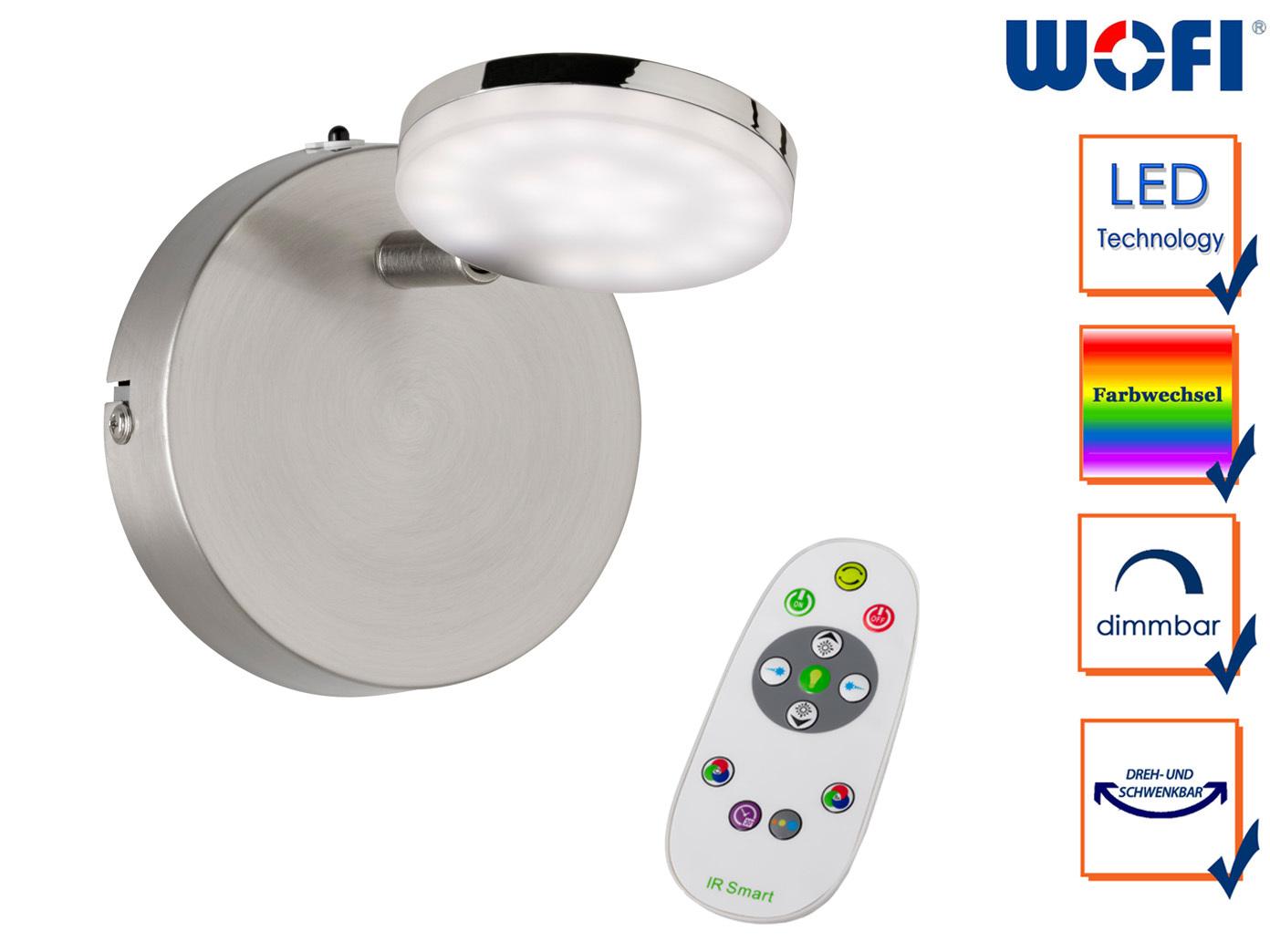 LED Wandleuchte Spot Fernbedienung dimmbar Farbwechsel Nachtlicht, Wandstrahler