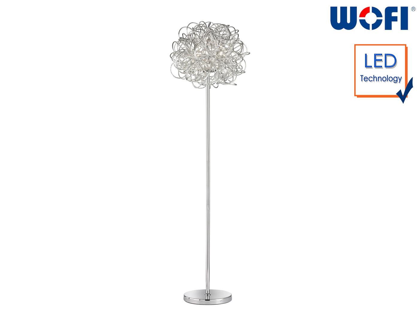 Astounding Stehleuchte Silber Dekoration Von Design-stehleuchte-silber-hoehe-166-cm-led-standlampe-