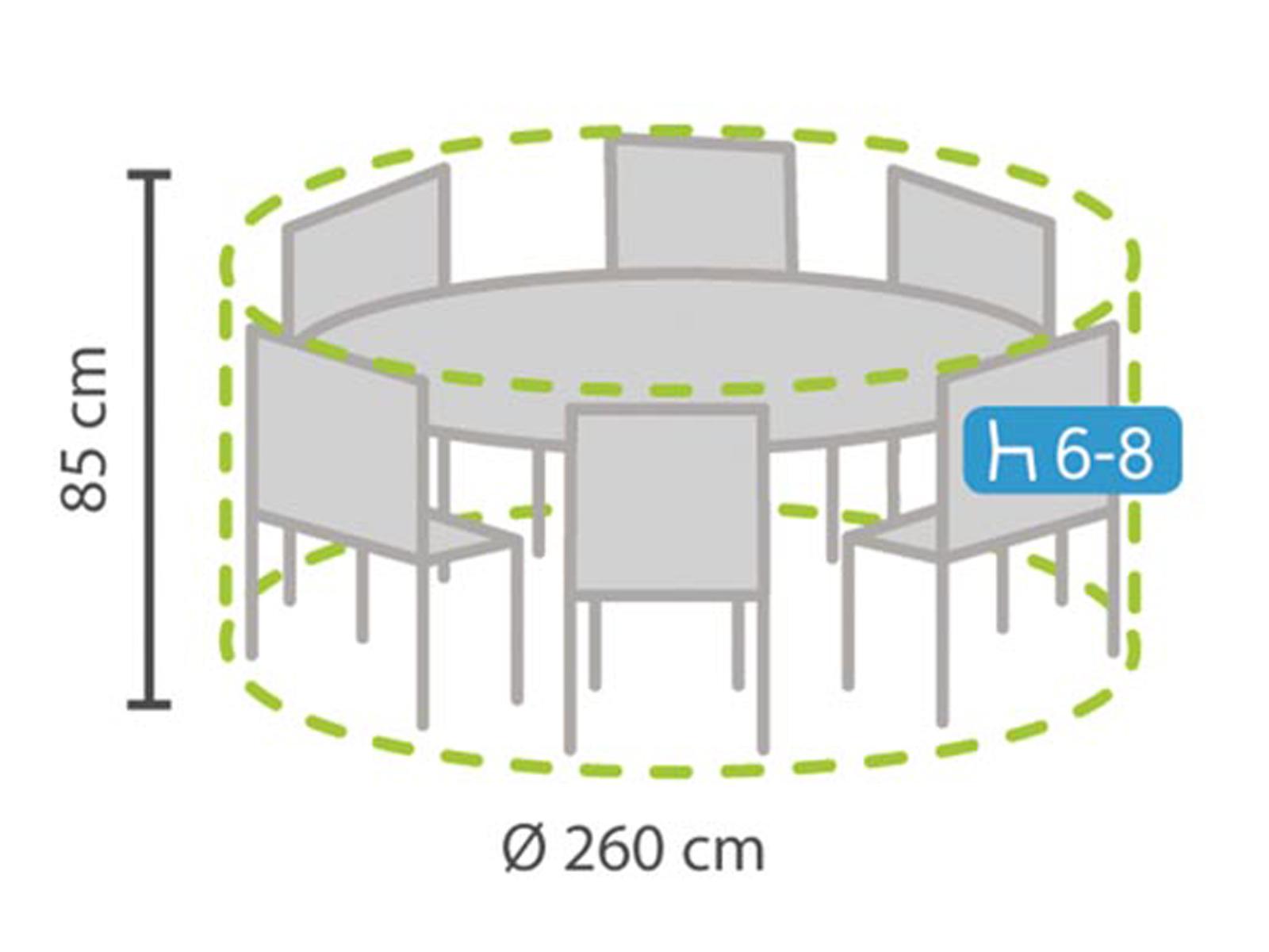 Das Bild Wird Geladen Schutzhuelle Plane Rund Fuer Gartenmoebel  260cm Witterungsbestaendige Abdeckung